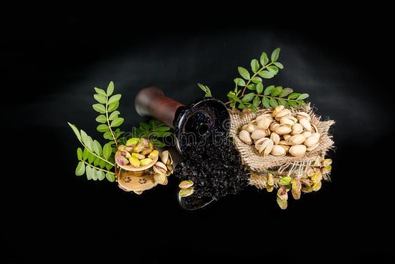 水烟筒碗用烟草 免版税库存照片