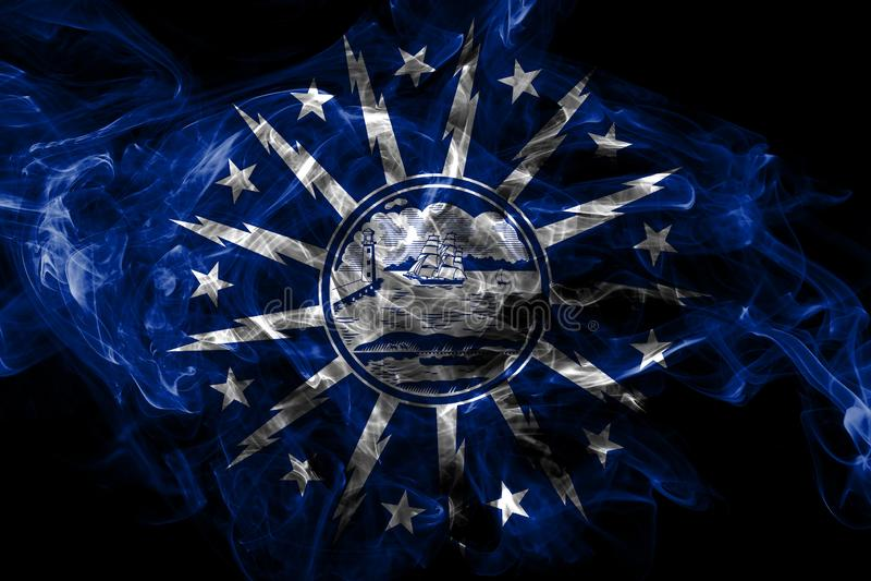 水牛城城市烟旗子,纽约州,美国 皇族释放例证