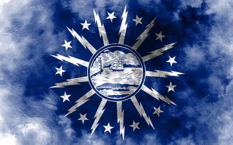 水牛城城市烟旗子,纽约州, Americ美国  皇族释放例证