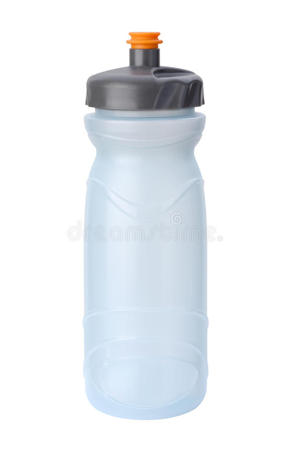 水瓶查出与裁减路线 图库摄影