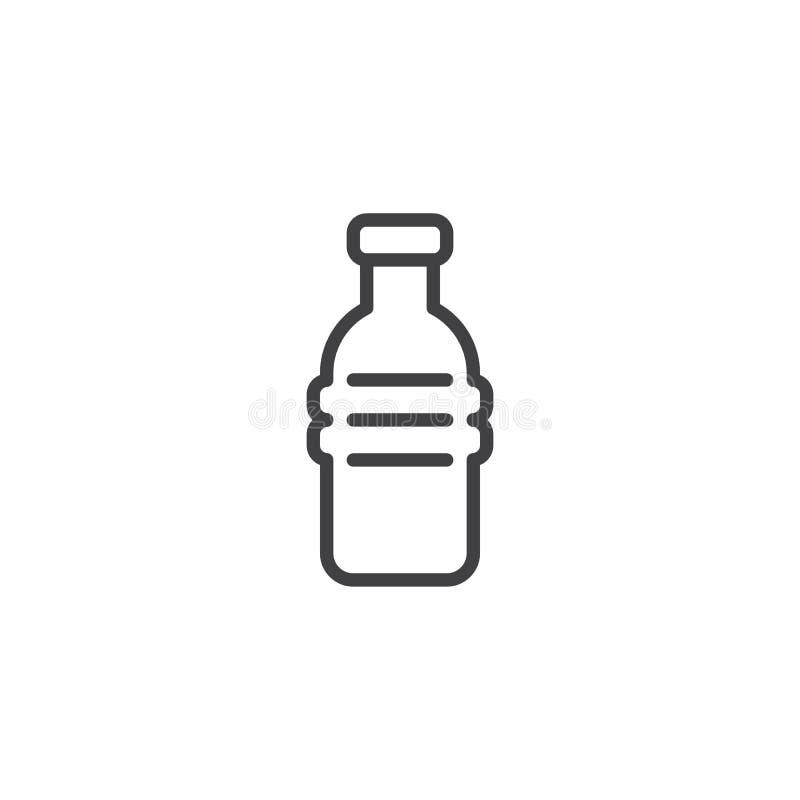 水瓶概述象 库存例证