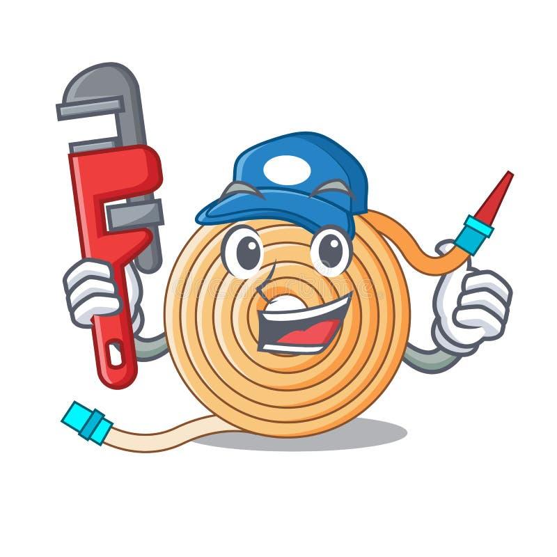 水管工水水管吉祥人 向量例证