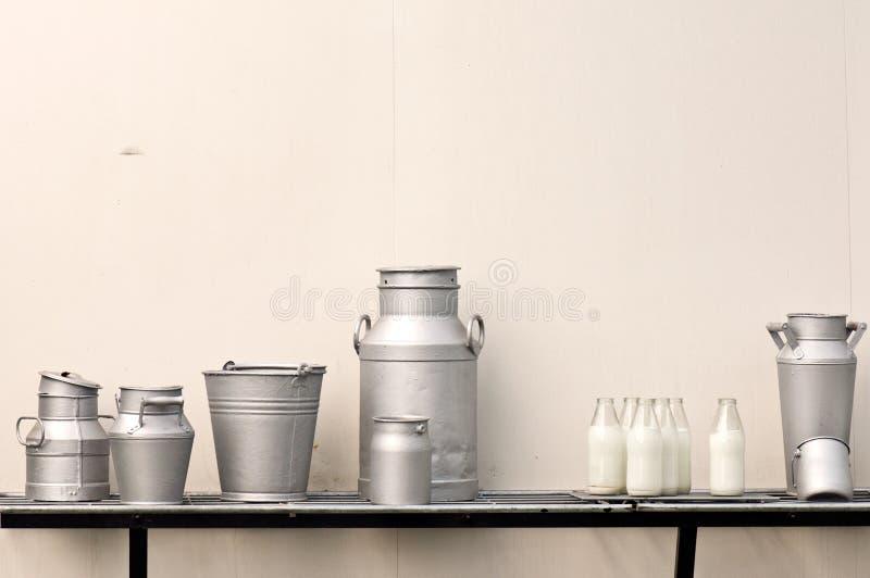 水罐挤奶老 库存图片