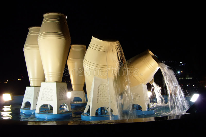 水罐,多哈,卡塔尔 库存图片