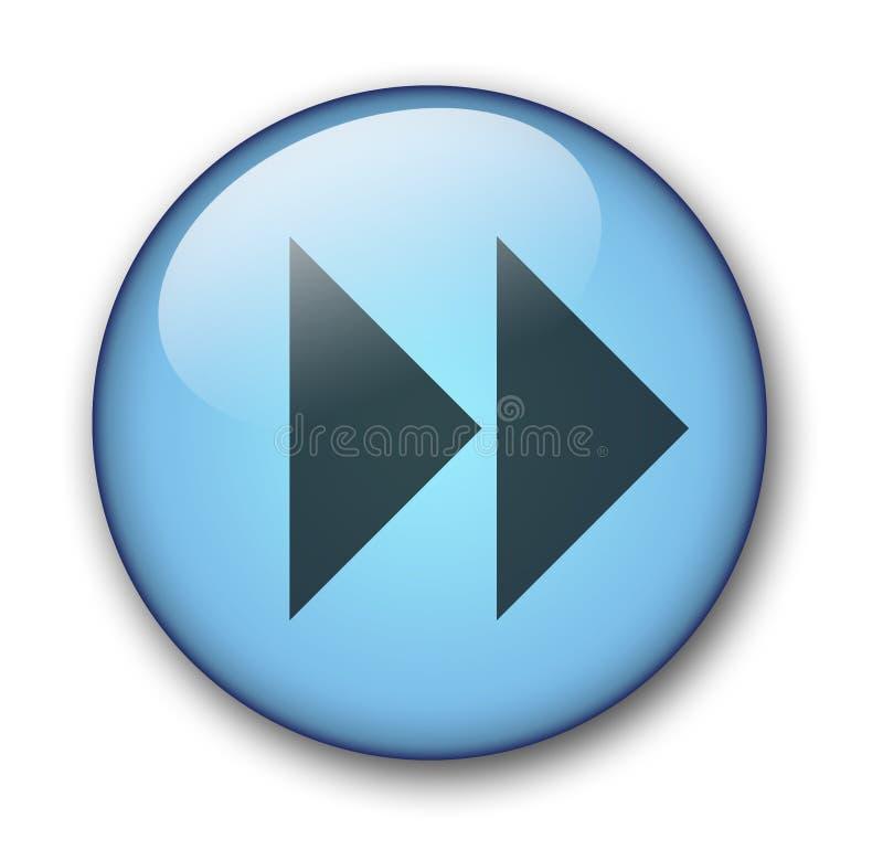 水色按钮万维网 免版税库存照片