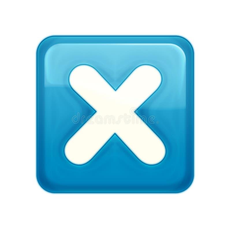 水色按钮样式万维网 皇族释放例证