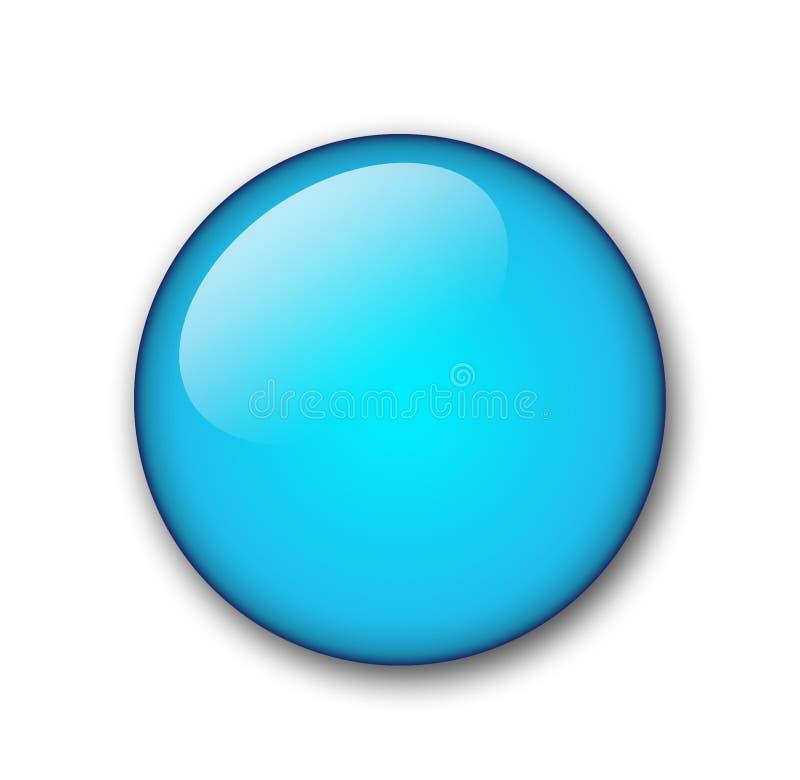 水色按钮 免版税库存图片