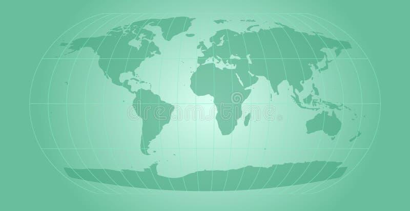 水色映射世界 向量例证