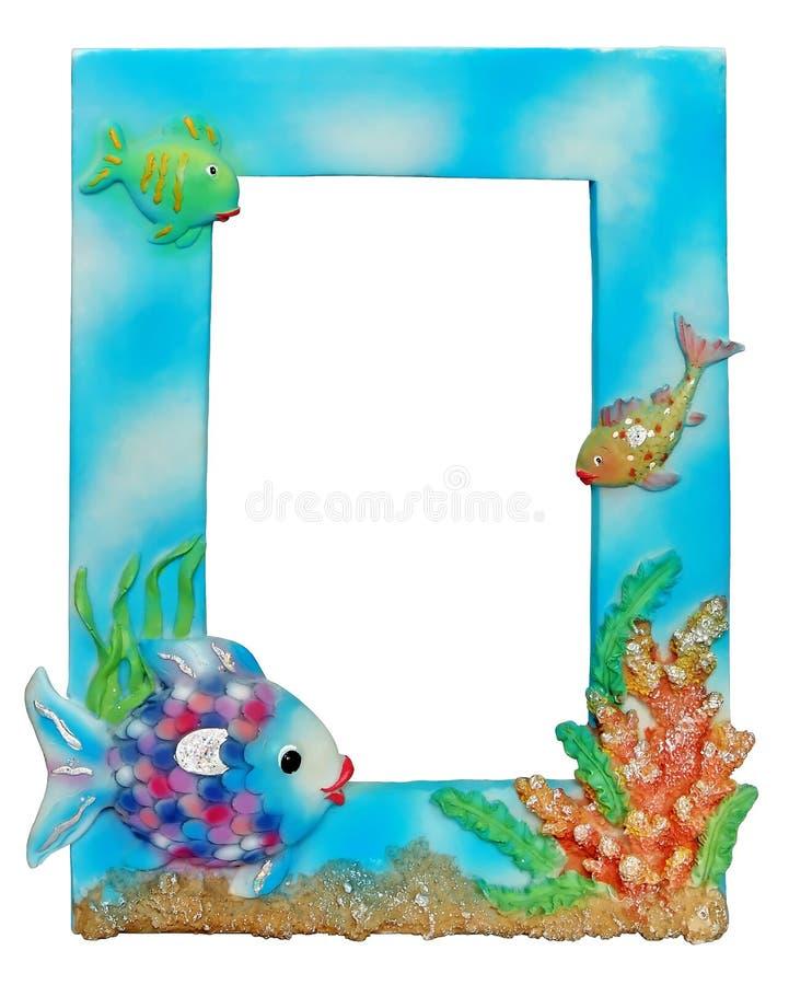 水色框架照片 免版税库存图片