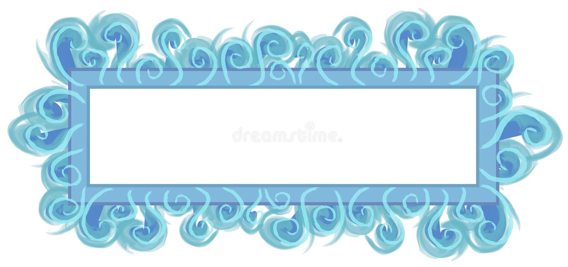 水色蓝色徽标页万维网 向量例证
