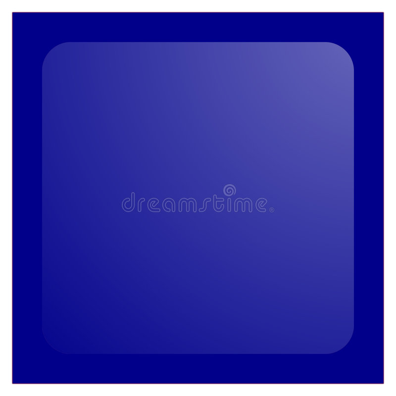 水色蓝色按钮黑暗正方形 皇族释放例证