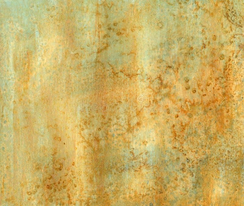 水色铁锈纹理 免版税库存照片
