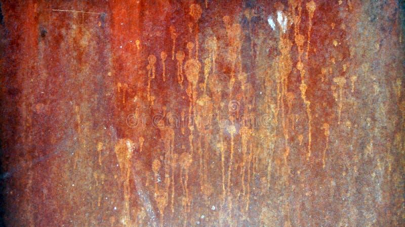 水质背景的锈蚀图案 免版税库存图片