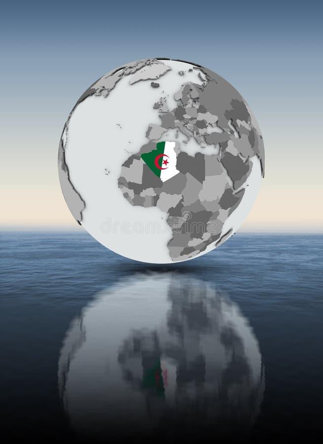 水面上的地球的阿尔及利亚 库存例证