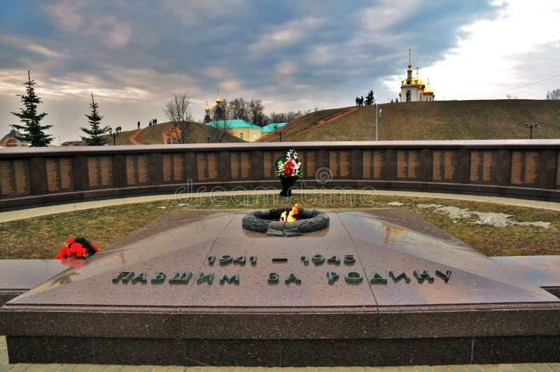 永恒UseNet上的激烈争论纪念品,克里姆林宫在德米特罗夫,莫斯科地区,俄罗斯 库存图片