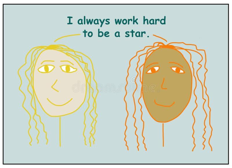 永远努力成为明星 免版税库存照片
