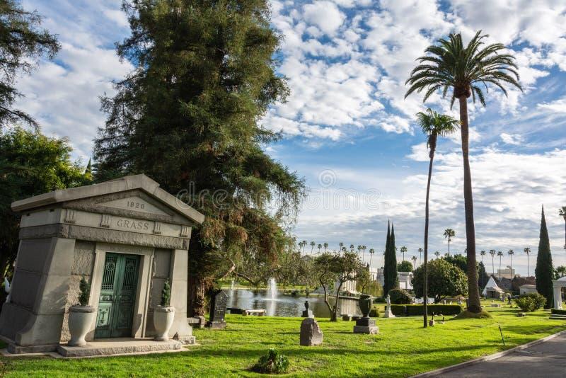永远好莱坞公墓在洛杉矶,加州 免版税库存图片