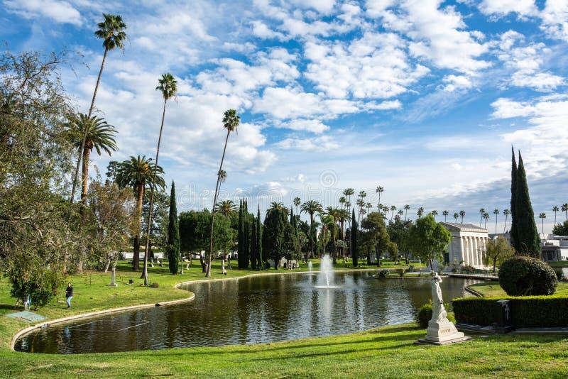 永远好莱坞公墓在洛杉矶,加州 图库摄影