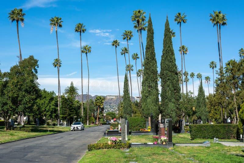 永远好莱坞公墓在洛杉矶,加州 免版税库存照片
