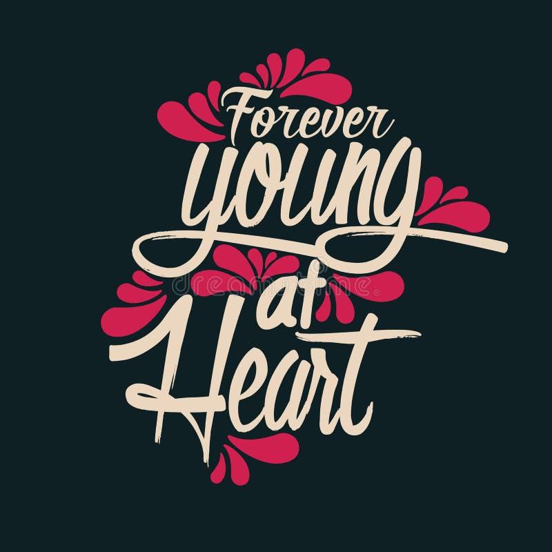 永远年轻在心脏 皇族释放例证
