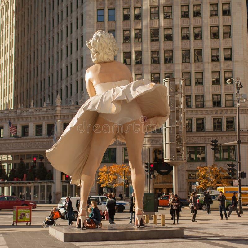 永远玛里琳在芝加哥 免版税库存照片