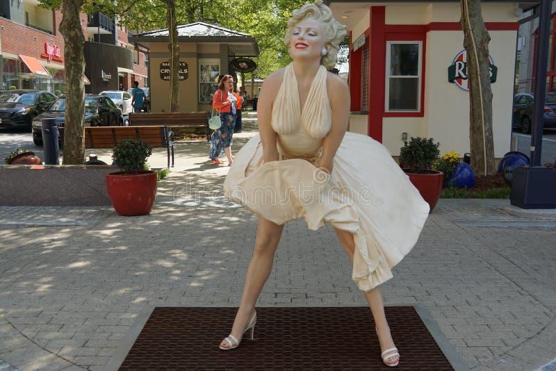 永远玛里琳雕塑 免版税库存照片