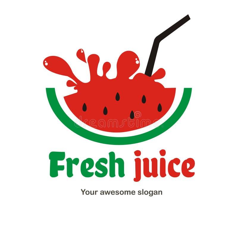 汁液商标设计 库存例证