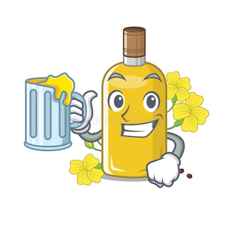 汁液在椅子字符上的油菜油 皇族释放例证