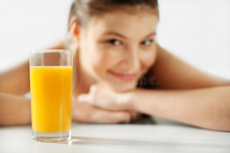 汁液妇女 图库摄影