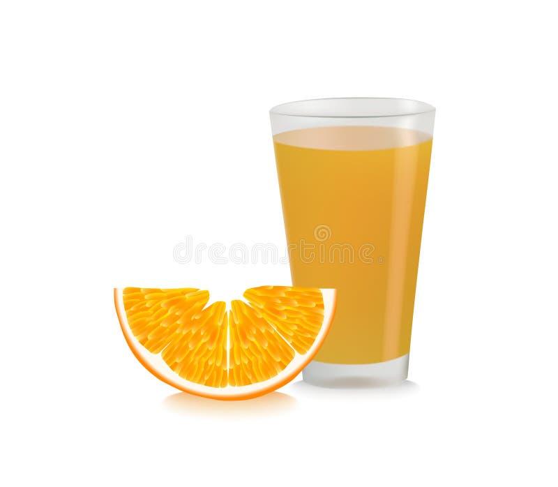 汁液桔子 库存例证