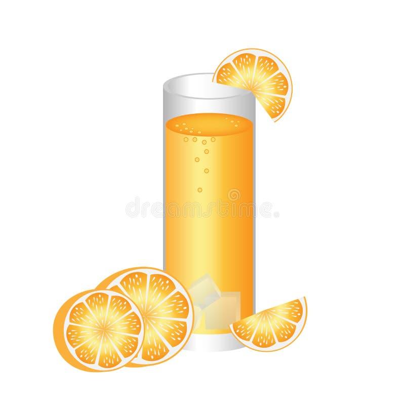 汁液桔子 向量例证