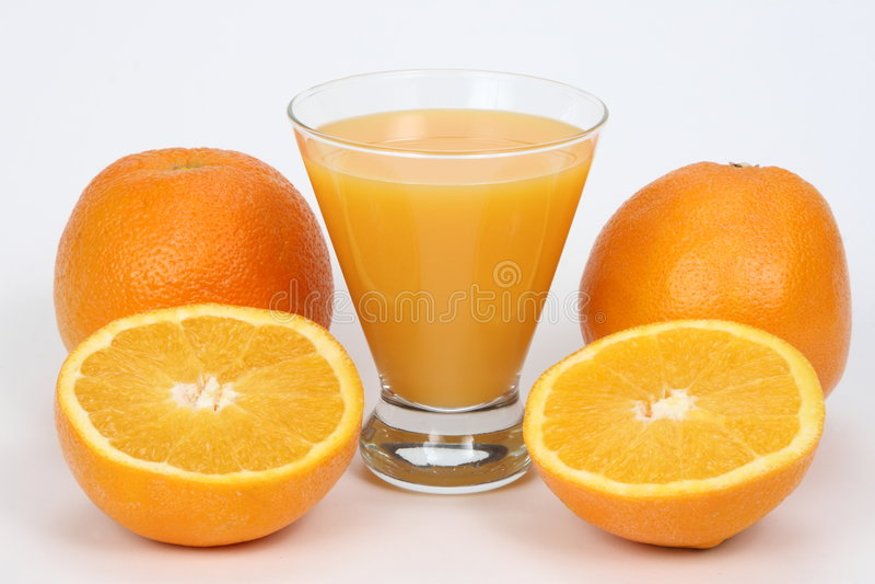 汁液桔子 库存图片