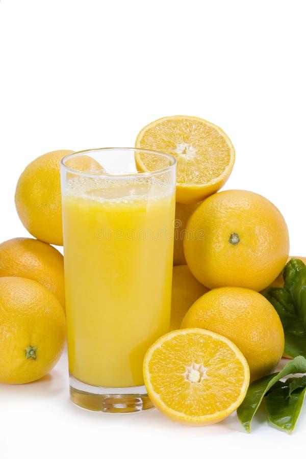 汁液橙色垂直 库存图片
