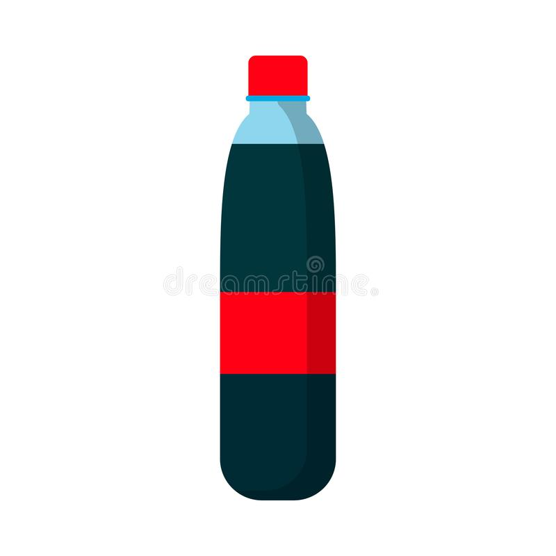 汁液瓶平的标志红色标签传染媒介象 玻璃剪影柠檬水饮料 夏天苏打饮料 向量例证