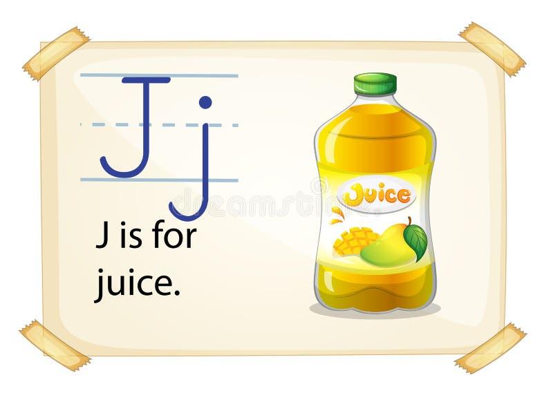 汁液的一封信件J 库存例证