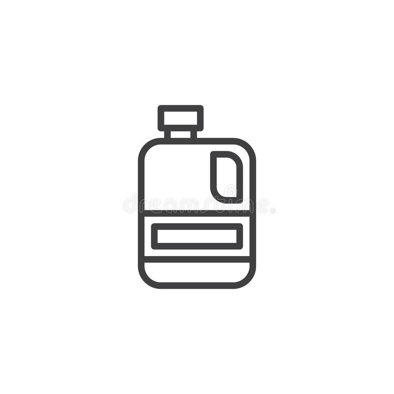 汁液箱子概述象 向量例证