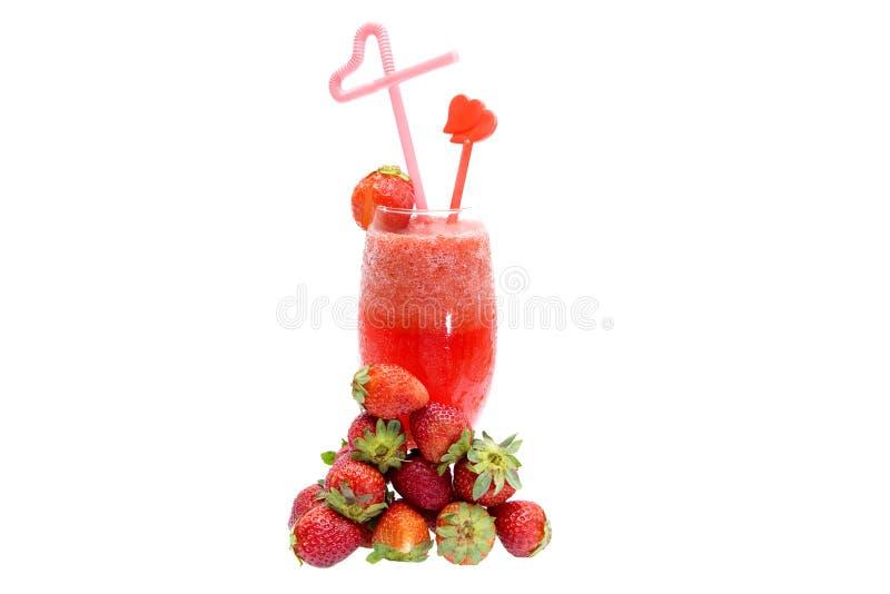 汁液草莓 免版税图库摄影