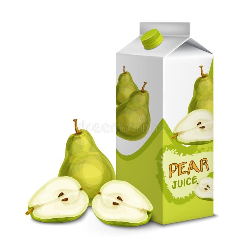 汁液组装梨 向量例证