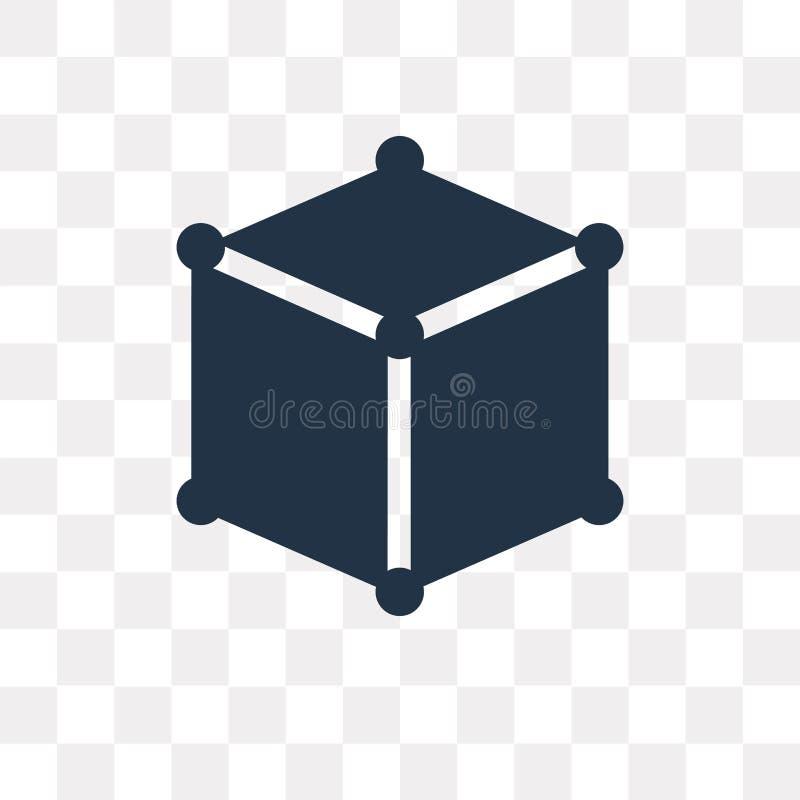 求在透明背景隔绝的传染媒介象的立方,立方体trans 皇族释放例证