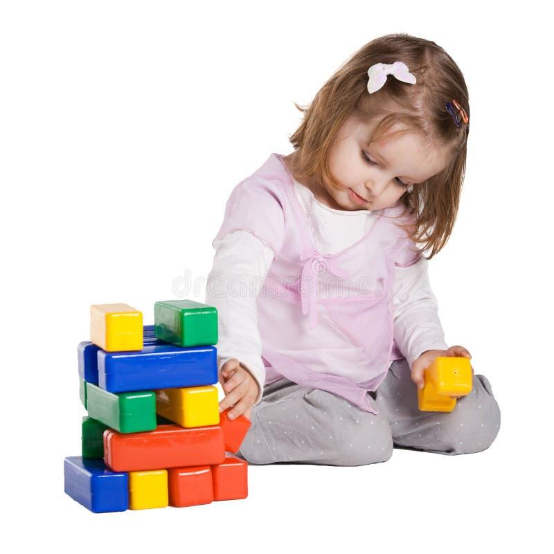 求女孩的立方使用的一点 免版税库存照片
