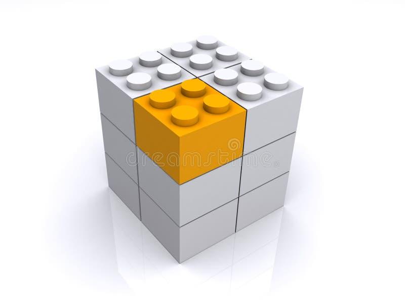 求小的空白黄色的立方 库存例证