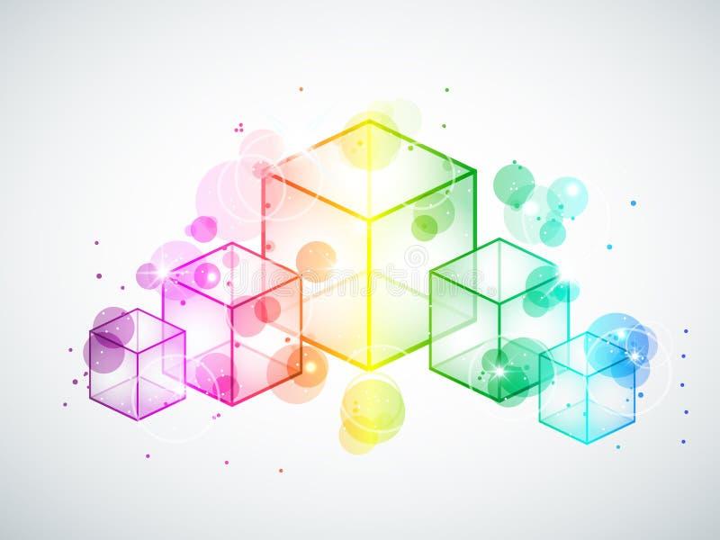 求彩虹的立方 库存例证