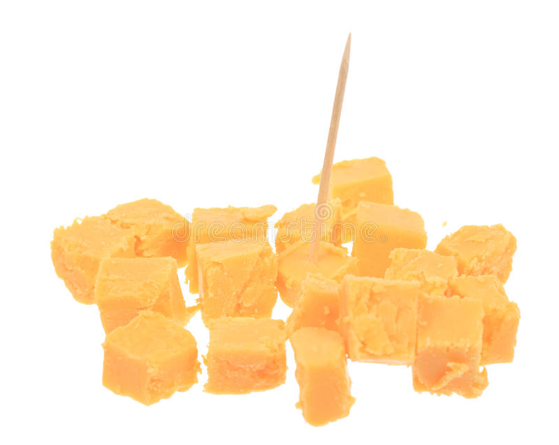求立方的干酪 免版税库存照片