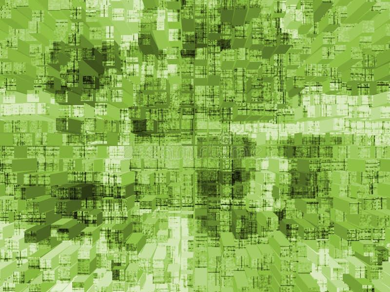 求立方的绿色 图库摄影