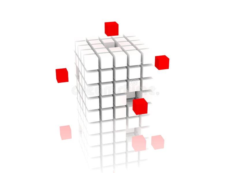求红色白色的立方 免版税库存照片