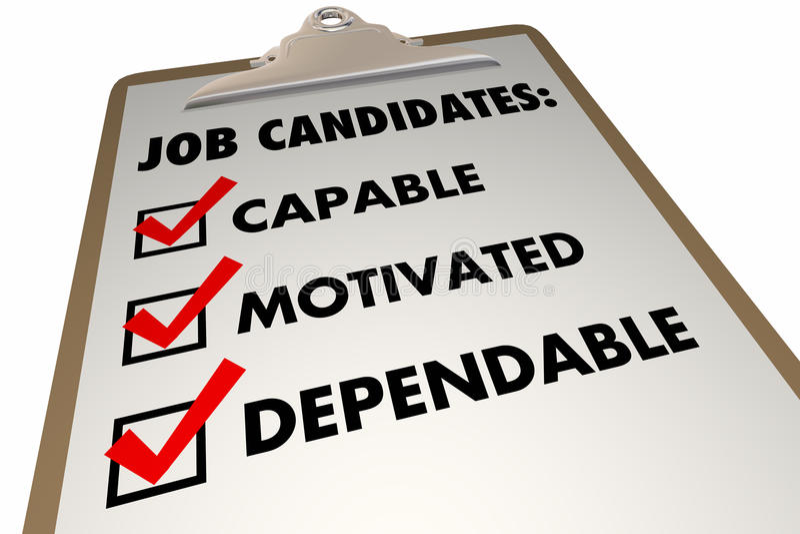 求职者质量要求采访清单 库存例证