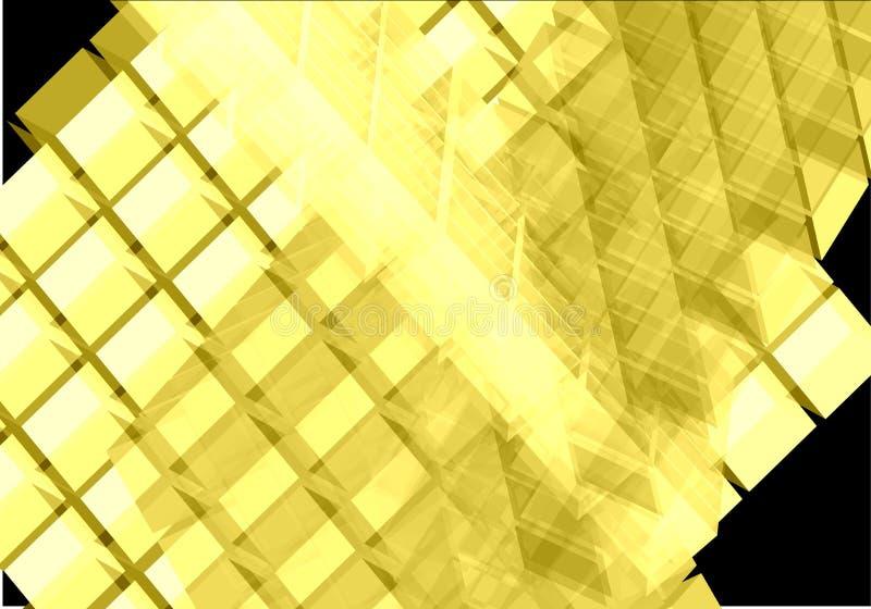 求透明向量黄色的立方 皇族释放例证