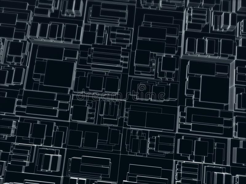 求黑暗不同的范围的立方 免版税库存图片
