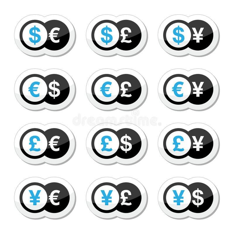 Download 汇兑象设置了-美元,欧元,日元,磅 库存例证. 插画 包括有 国家(地区), 定金, 图标, 查出, 货币 - 30332538