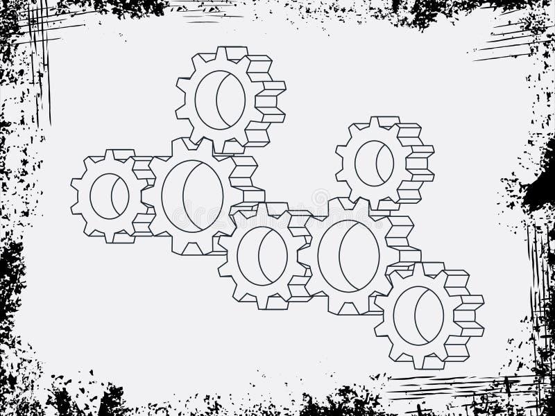 汇编传染媒介适应与在背景样式的grunde框架 库存例证